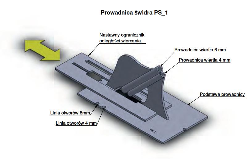 Prowadnica świdra PS_1