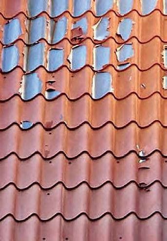 łuszczenie dachu