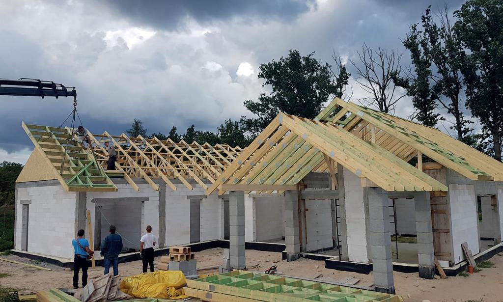 więźba prefabrykowana dach